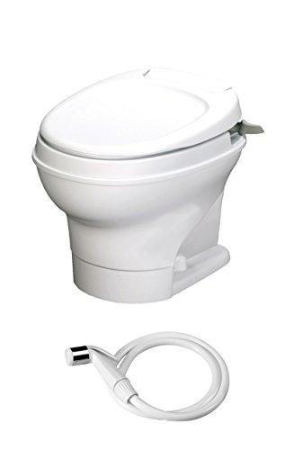 Thetford 31657 Aqua Magic V White Low Hand Flush with Water Saver