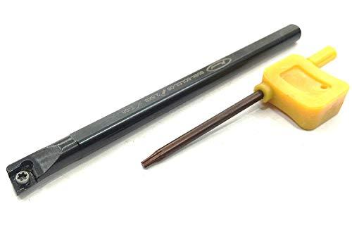 Soporte de herramientas de perforación de torno de la mejor calidad con llave (sin inserto CCMT) para máquina de ingeniería de herramientas de metal (vástago de 8 mm)
