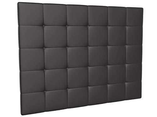 LA WEB DEL COLCHON - Cabecero tapizado Corfú para Cama de 150 (160 x 120 cms) Chocolate | Cama Juvenil | Cama Matrimonio | Cabezal Cama |
