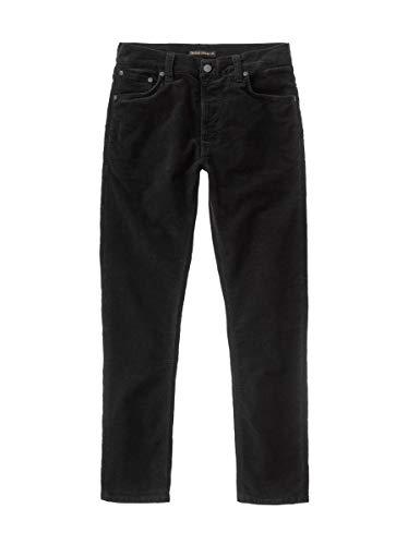 Nudie Jeans Unisex-Erwachsene Lean Dean Black Cord Jeans, Schwarze Kordel, 38W x 36L
