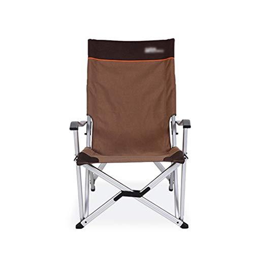 UICICI Chaise pliante extérieure Chaise pliante en aluminium Chaise pliante en aluminium (Color : Coffee)