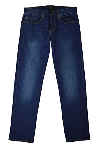 Banana Republic Men's Straight-Fit Stretch Jean, Medium wash Blue (33/30)