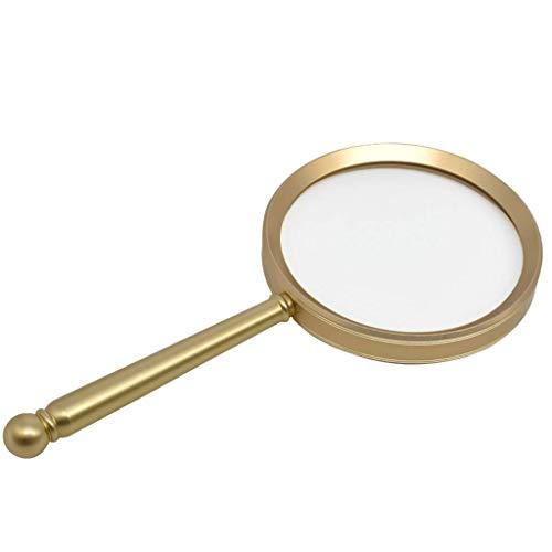 BXU-BG Vidrio, 20 Veces de Alta definición de Cristal Vieja Lectura del Estudiante Periódico niños Viejos Hombres de Aluminio de Oro de Mano del Vidrio de 185 Veces, 105 Veces; 75 / 90mm