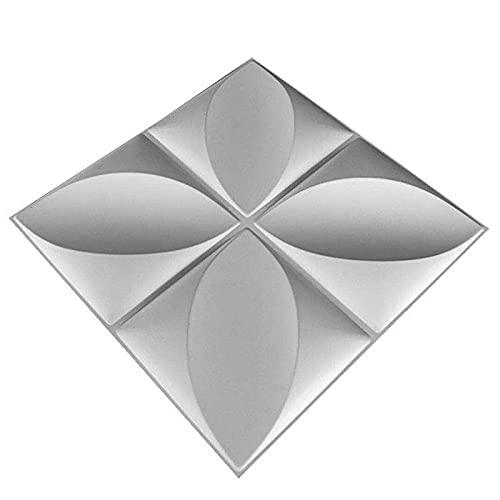 MADG Paneles de Pared 3D,Revestimiento de Pared Azulejos de Pared 3D,12 Piezas 3m²,Diseño de Pared PVC Tridimensional Texturizado,Vinilos Decorativos De Estilo Europeo para Salón Y Dormitorio.