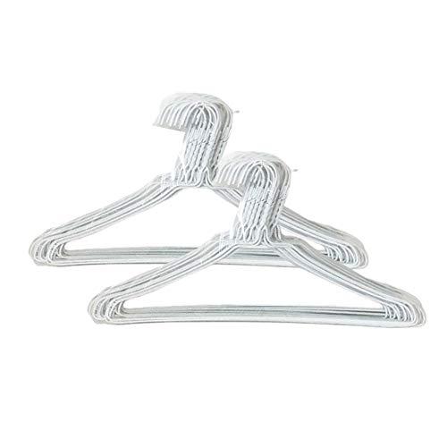 オリタニ 針金ハンガー φ2.7×40cm幅 50本セット (ホワイト) 省スペース 収納 洗濯 丈夫 シンプル 物干し
