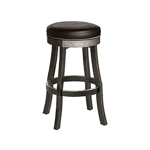 Harley Davidson Bar and Shield Flames Bar stool W/Vintage Black Finish