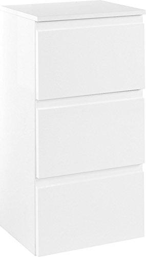 Held Möbel Cardiff Unterschrank, Holzwerkstoffe, Weiß, 35 x 40 x 79 cm