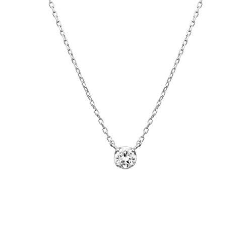 4℃(ヨンドシー) ダイヤモンドK10ホワイトゴールド(WG)ネックレス 111736123206
