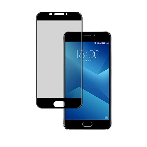 Wephone Accesorios Cristal Templado para Meizu M5 Note Color Cristal Completo Negro