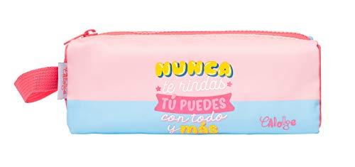 Estuche escolar - Estuche Carouge │Estuche mediano rosa y azul perfecto para la vuelta al cole