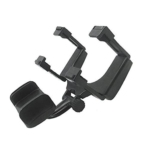 Zayaa Espejo retrovisor de Coche Soporte para teléfono móvil Soporte de navegación telescópico Ajustable Soporte a presión Modelo multifunción Universal
