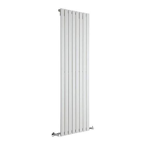 Hudson Reed Radiador de Diseño Moderno Vertical Delta - Radiador con Acabado Blanco - Paneles Planos - 1780 x 560mm - 1316W - Calefacción