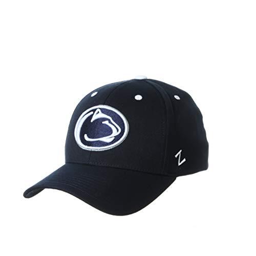 Zephyr NCAA Penn State Nittany Lions Mens Stretch Fitted Hat Team Color, Penn State Nittany Lions Navy, Medium