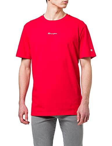 Champion Seasonal Back Logo Crewneck T-Shirt Camiseta, Rojo, XXL para Hombre
