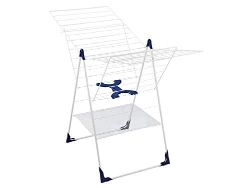 Leifheit Standtrockner Classic 250 Flex, individuell einstellbarer Wäschetrockner mit 25m Wäscheleine für 2-3 Waschmaschinenladungen, Wäscheständer für drinnen und draußen, für lange Wäsche