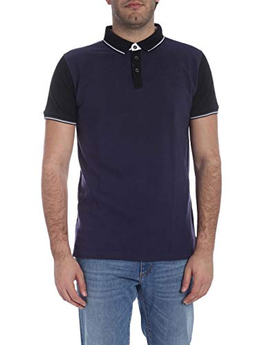 Trussardi Jeans Herren Polo-Shirt Piquet Regular Fit Poloshirt, Blau (U290/Navy Blue U290), Large