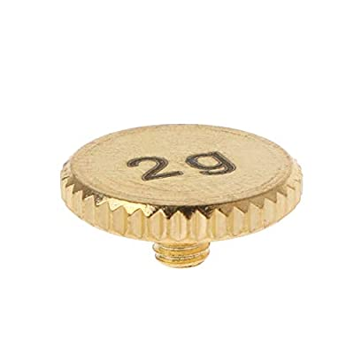 KLOVA Headshell 2g Shell Weight Turntable Metal Electric Instrument Parts for Stylus DJ - 1# Gold Plated