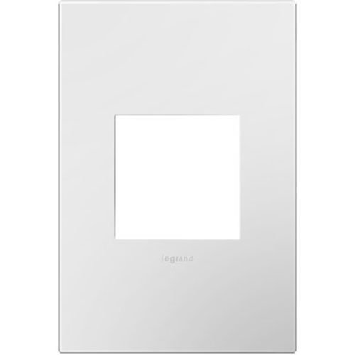 Legrand Adorne AWP1G2WHW10 Gloss White on White Backplate, 1-Gang Wall Plate | 10 Pack