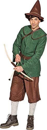 Fancy Me Herren-Gartenzwerg, mittelalterliches Rotkehlchen-Kostüm, Grün Large (EU 50-52) grün