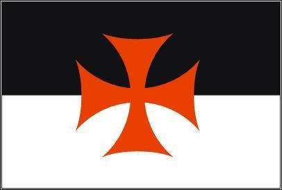 Templer Kreuzritter schwarz/weiß mit Kreuz Fahne Flagge Größe 1,50x0,90m