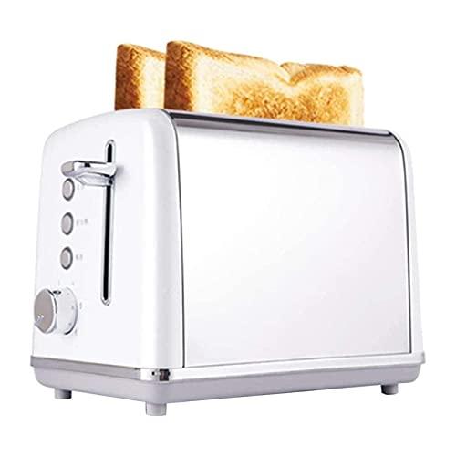 ELXSZJ XTZJ Touchas tostales con 9 configuraciones de Temperatura y Ranuras adicionales de 1.5'para panecillos, gofres, panes Especiales, hojaldre, bocadillos, 2 rebanadas
