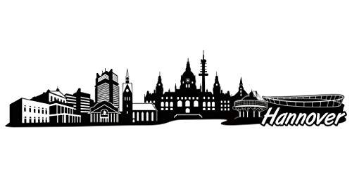 Samunshi® Hannover Skyline Aufkleber Sticker Autoaufkleber City Gedruckt in 7 Größen (30x6,8cm schwarz)