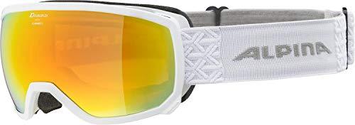 ALPINA SCARABEO S Skibrille, Unisex– Erwachsene, white, one size