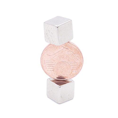 Brudazon | 10 Power kubusmagneten 8 mm | N52 sterkste niveau – neodymium magneten ultrasterk | Power magneet voor glazen magneetbord, whiteboard, prikbord, koelkast | magnetische blokjes extra sterk