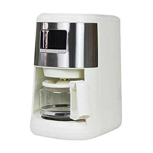 Kaffeevollautomat Dicke Grinding One-Click Reinigung Frisch Gemahlener Einstellbare Konzentration Metallfilter Mit LED-Anzeige 600Ml Weiß Für Office Home