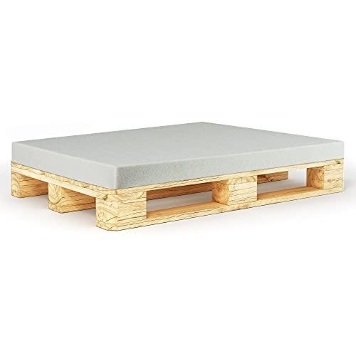 Seebau Living - Placa de espuma para palés europeos, varios tamaños, RG35/40, para muebles y muebles de palé, cojín de espuma de poliuretano (120 x 80 x 5 cm)