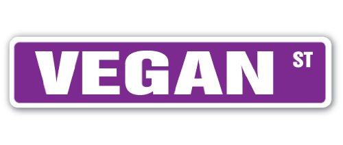 Vegan calle signo verduras Veganismo vegetariana regalo Foodie Alimentos