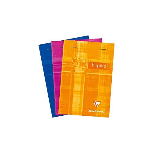 Clairefontaine Pupitre 6642C - Bloc de notas grapado A6 cuadriculado d 80 páginas, colores surtidos, 1 unidad