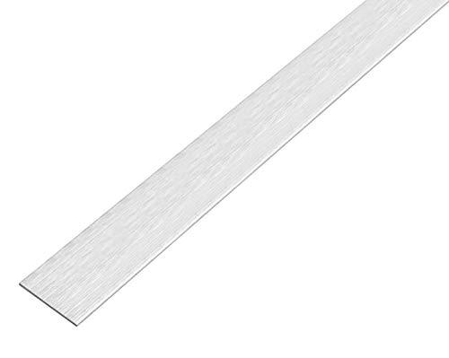 GAH-Alberts 488765 Flachstange | selbstklebend | Aluminium, edelstahldesign, hell | 1000 x 15 x 2 mm