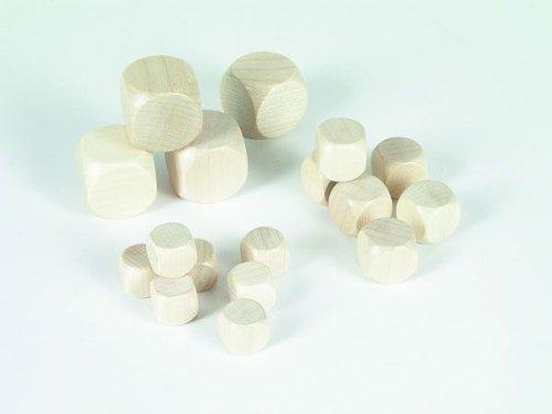 10er-Set Blankowürfel aus Ahornholz (30 mm), Polybeutel