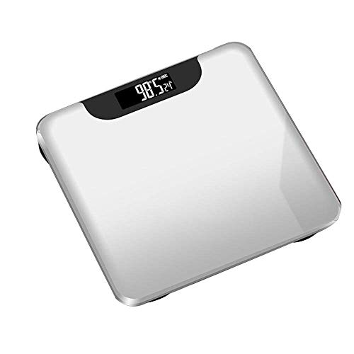 BINGFANG-W Discs Waage Personenwaage, Bluetooth Körperfettwaage Smart-Backlit Display-Skala, Wasser Muskelmasse Bmi Körpergewicht, 180Kg Abrasive