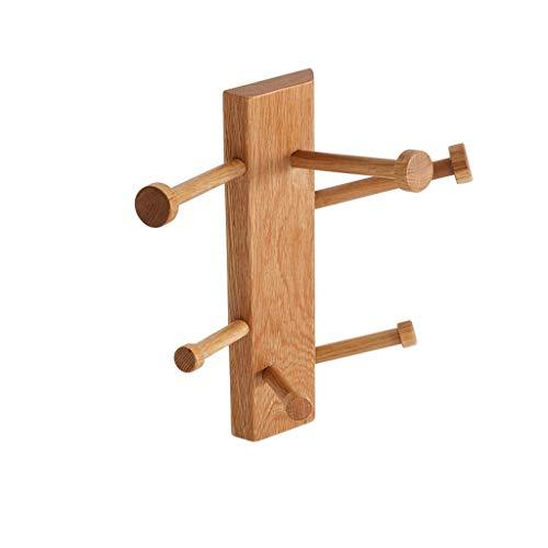 ZXL Kapstok van hout, creatief, woonkamer, slaapkamer, garderobe, garderobe van hout, hoogte 40 cm, kleur B
