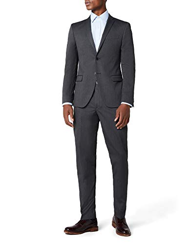 s.Oliver BLACK LABEL Herren Anzug SLIM 23710843235 Grau (Dark Grey Melange 9822), 48