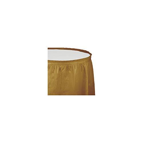 Creative Converting Jupe de Table en Plastique, 4 Pieds, Paillettes dorées