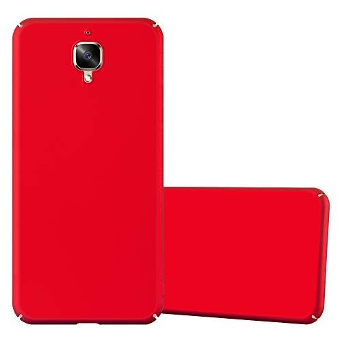 Cadorabo Funda para OnePlus 3 / 3T en Metal Rojo - Cubierta Protección de Plástico Duro Super Delgada e Inflexible con Antichoque - Case Cover Carcasa Protectora Ligera