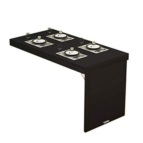 SYJH Escritorio Plegable Pared, Mesa Plegable De Madera, Mesas Abatibles para Ahorrar Espacio, Mesa De Comedor Plegable A La Pared(Color:Negro,Size:90×40×75cm)