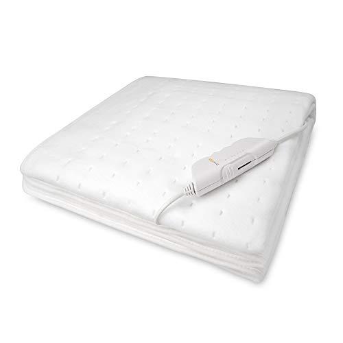 Medisana HU 662 Wärmeunterbett, 150 x 80 cm, Abschaltautomatik, Überhitzungsschutz, 6 Temperatursstufen, waschbar, Matratzenheizung für alle gängigen Matratzen geeignet
