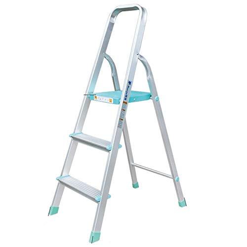JXHOME Escalera Plegable Plegable Taburete con apoyabrazos Altura de Trabajo de 66 cm Escalera Pesada 150kg Capacidad MAX