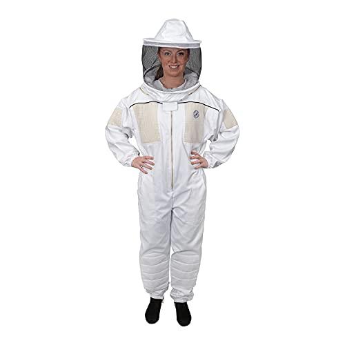 Humble Bee 430 Belüfteter Imkeranzug mit Rundschleier, arctic white, large