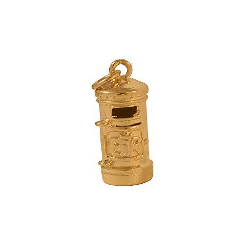 Sayers London 9 Karat Gelbgold Briefkasten Charm