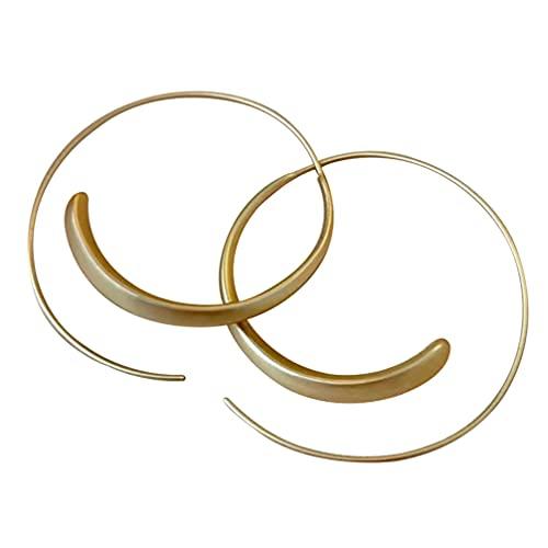 Amosfun Creolen-Ohrstecker, Vintage-Stil, große Kreise, Ohrstecker, dekorative Ohrstecker, S925, Schmuck für Frauen und Mädchen