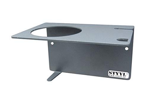 STYYL / Wandhalter z.B. für Thermomix® Zubehör TM5 & TM6 Anthrazit-grau, Klebebefestigung kein Bohren!