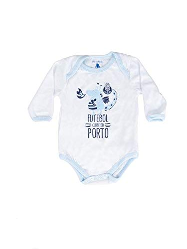 FC PORTO Body Branco Menino Dragão Body, Baby-Kinder, Weiß und Blau, 3/6