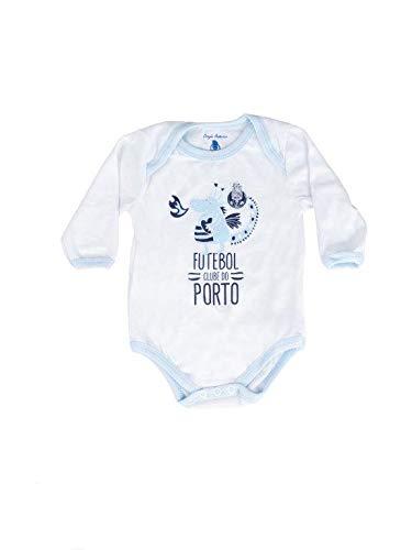 FC Porto Body Branco Menino Dragão Body, Bebé-Niños, Branco e Azul, 3/6
