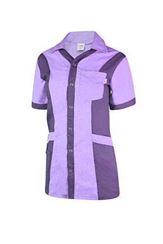 Clinotest Damenkasack Julia, durchgeknöpft, Gesundheitswesen, für die Pflege, Berufsbekleidung, in Trendfarben (S, Flieder/lila)