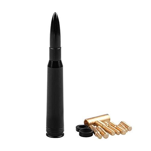 JCMY Accesorios para automóviles Antena Corta de Aluminio for munición Bullet Calibre 50 Calibre Negro para decoración de automóviles, Limpieza, reparación, Ajuste. (Color : Black)